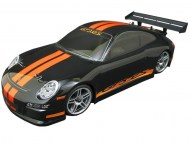 Porsche 911 GT3 RS 1/10 Nitro, rc nitro auto on-road, brandstof rc on-road auto