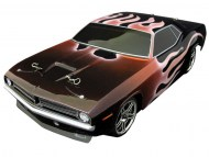 Plymouth Cuda 1/10 Nitro RC, rc nitro auto on-road, brandstof rc on-road auto