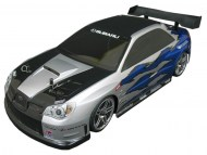 Subaru Impreza 1/10 Nitro RC, rc nitro auto on-road, brandstof rc on-road auto