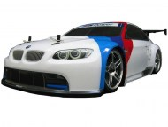 BMW M3 GT2 E92 1/10 wit, rc nitro auto on-road, brandstof rc on-road auto
