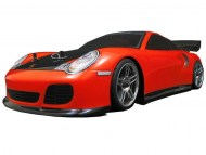 Porsche 911 Turbo 1/10 Nitro RC, rc nitro auto on-road, brandstof rc on-road auto
