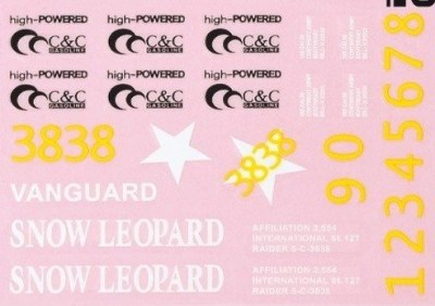 Decal of stickerset voor Panther M26 Snow Leopard