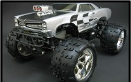 Nitro Pontiac Hemi GTO 1/8 Monster truck, off-road nitro rc auto