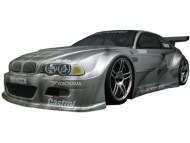 BMW M3 E46 GT 1/10 Nitro, rc nitro auto on-road, brandstof rc on-road auto