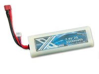 7.4V 3500mAh Hardcase Lipo 20C AM X Racing / DEAN Stecker