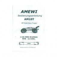 radiografische brushless rc auto Amewi AM10T Truggy